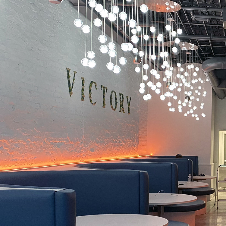Victory Bar booth seating