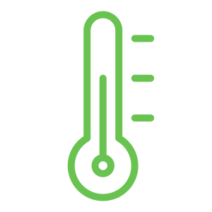 Setting of temperatures with damper control