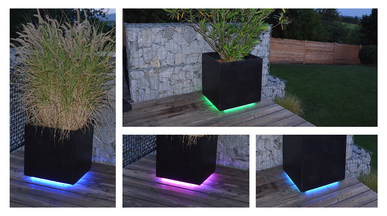 Una terraza con estilo juegue con la iluminaci n e for Luces led para terrazas
