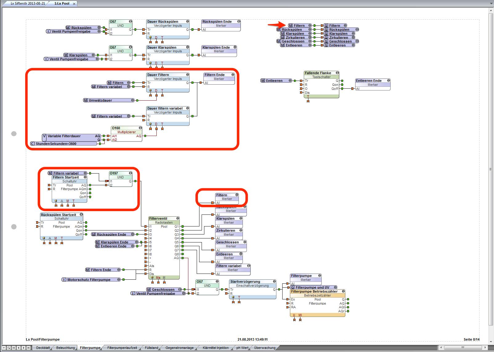 Loxone-Config-Blatt-Filterpumpe-Filtern