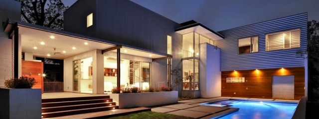 piscina with luces led para terrazas