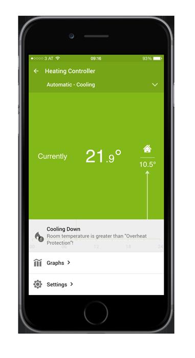 Loxone-Smart-Home-App-temperatures
