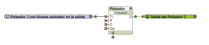 push-button-con-un-bloque-pulsador-antes-de-la-salida