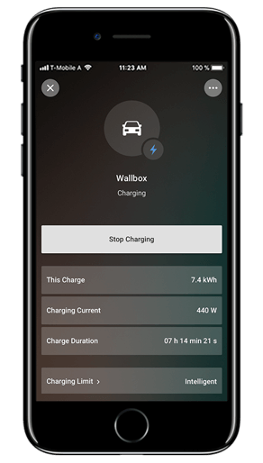 Loxone App coche eléctrico
