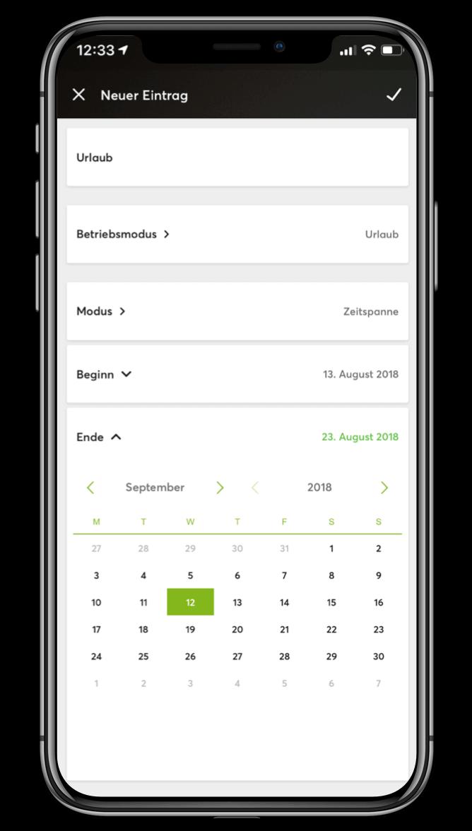 Smart Home App - Betriebszeiten planen