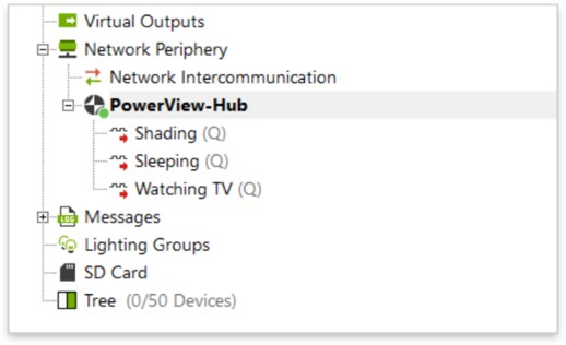 Loxone Config - PowerView Hub