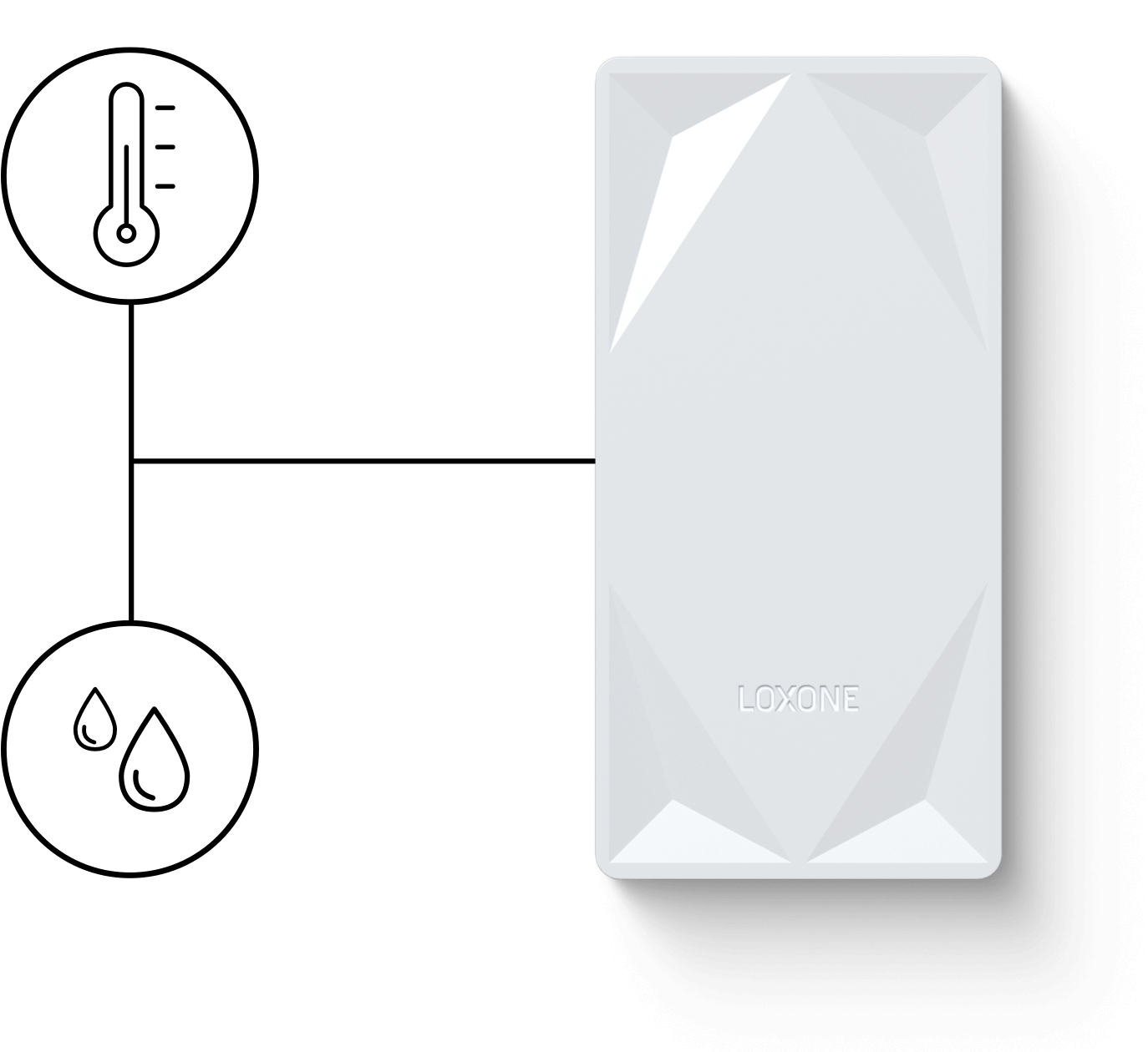 Pulsador con sensor de temperatura y humedad