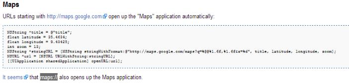 Bloc fonction app maps