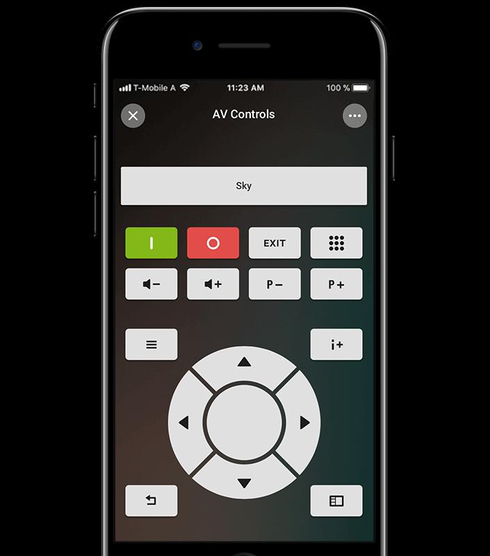 Multiroom Audio Steuerung auf dem Handy (Mockup)