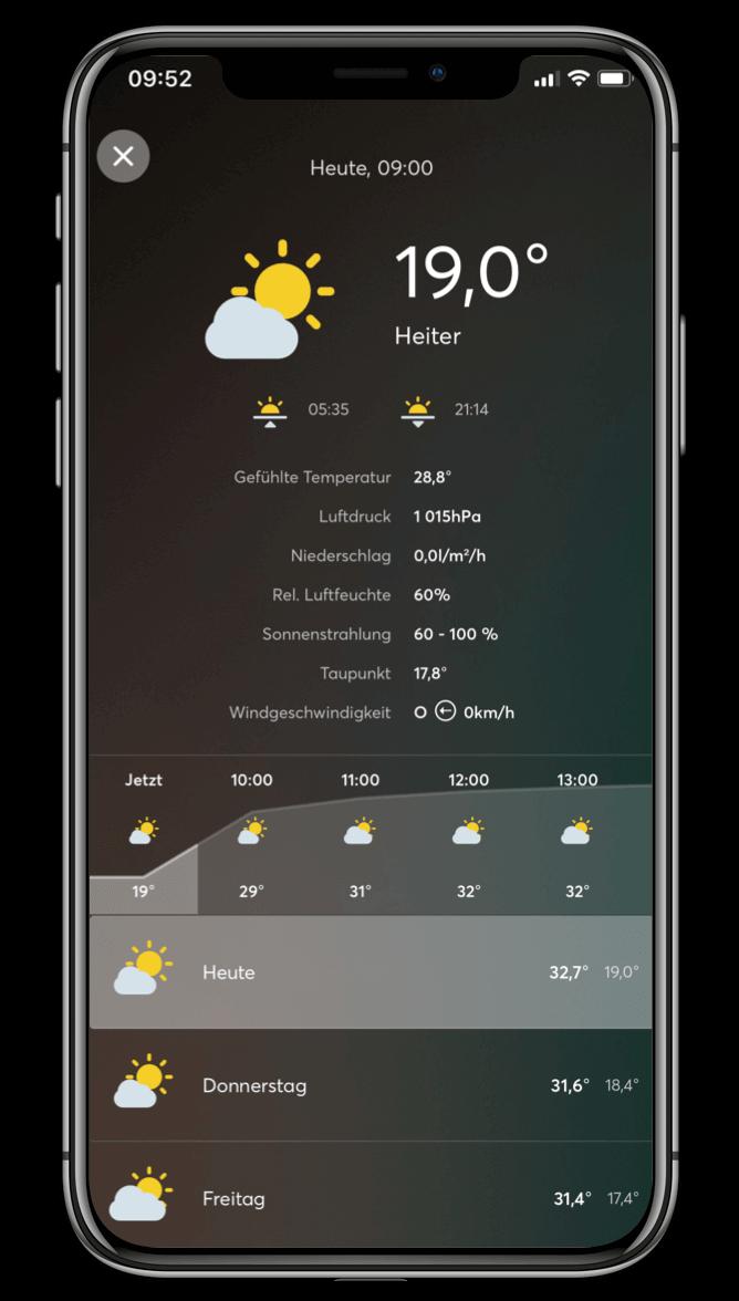 Smart Home App - Wetter