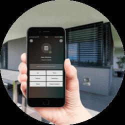 Steuerung der Markise per App