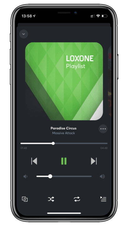 Loxone App Playlist