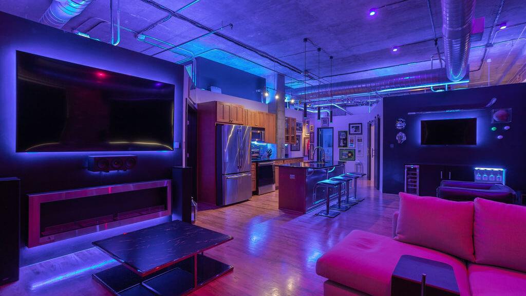 Automatisation d'un loft industriel – éclairage intelligent | Loxone