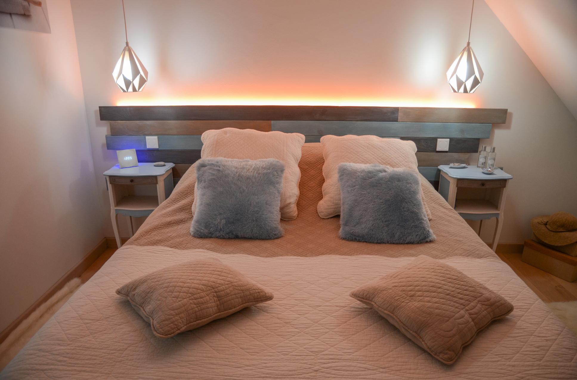 Chambre à coucher éclairage domotique