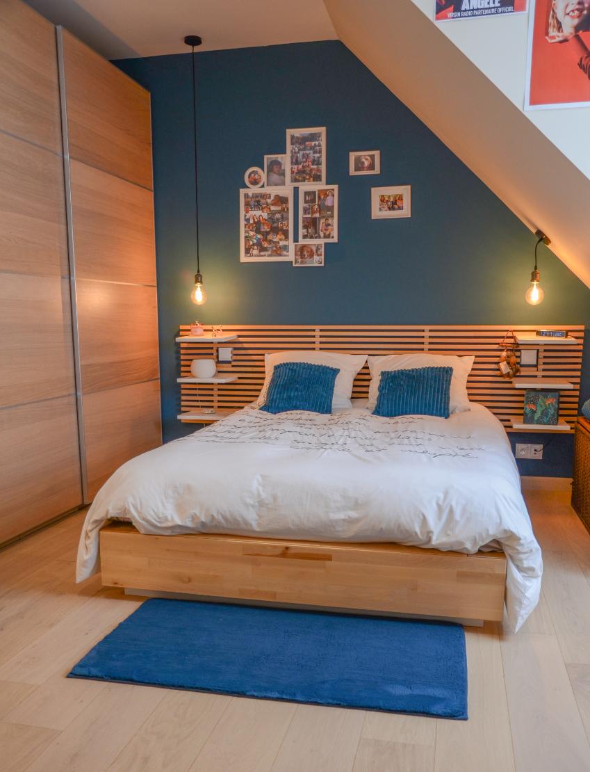 Chambre à coucher éclairage intelligent