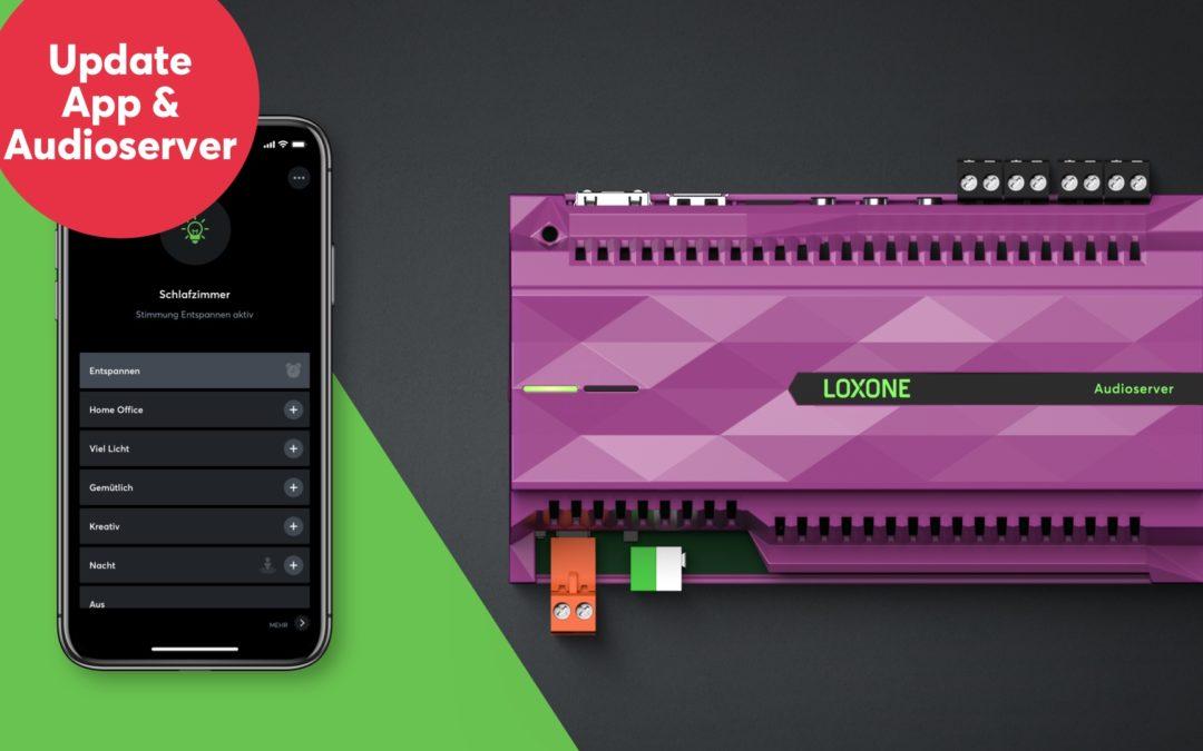 Mise à jour App Loxone 12.0 & Audioserver 2.5.01.18