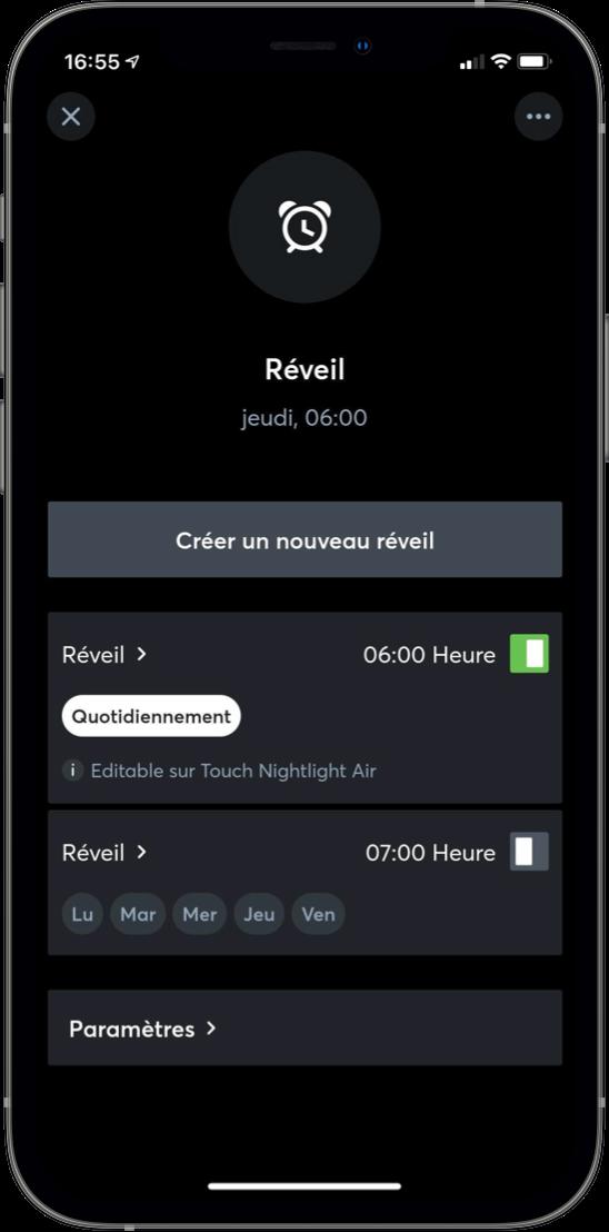 App réveil intelligent
