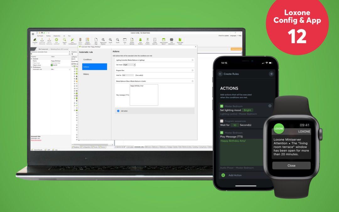 Nouveau : Loxone Config & App 12 et mise à jour de l'Audioserver