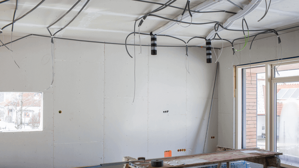 rechtzeitige Lichtplanung - Baustelle