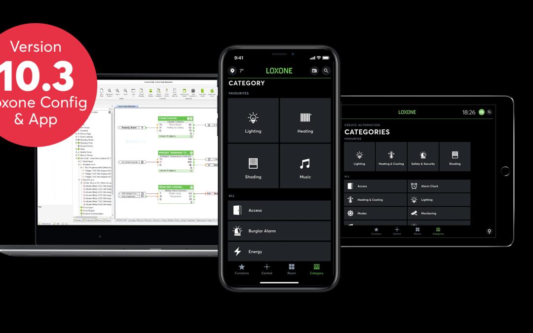 Loxone Config e App 10.3 – Disponibile da subito