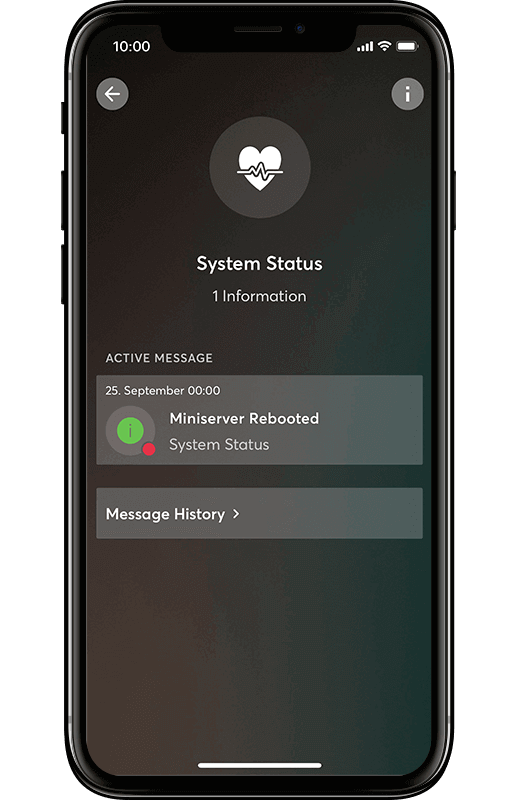 Smart Home App - Systemstatus