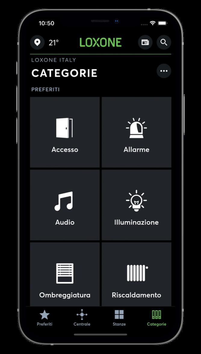 Categorie nell'App Loxone