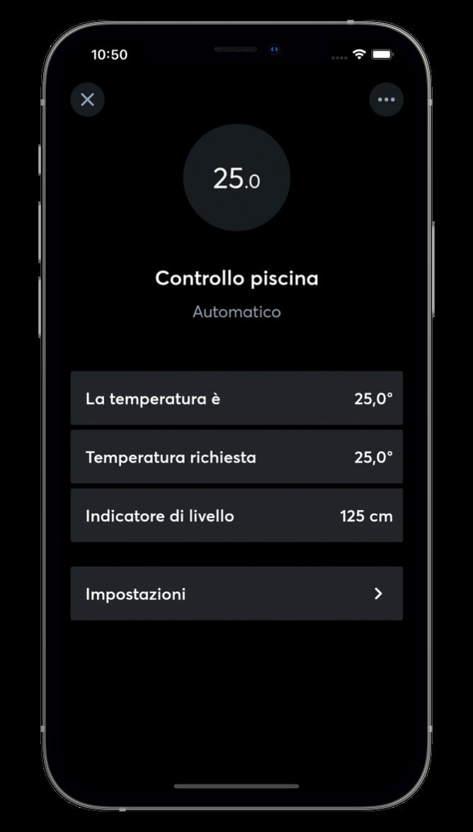 Controllo piscina con l'App Loxone