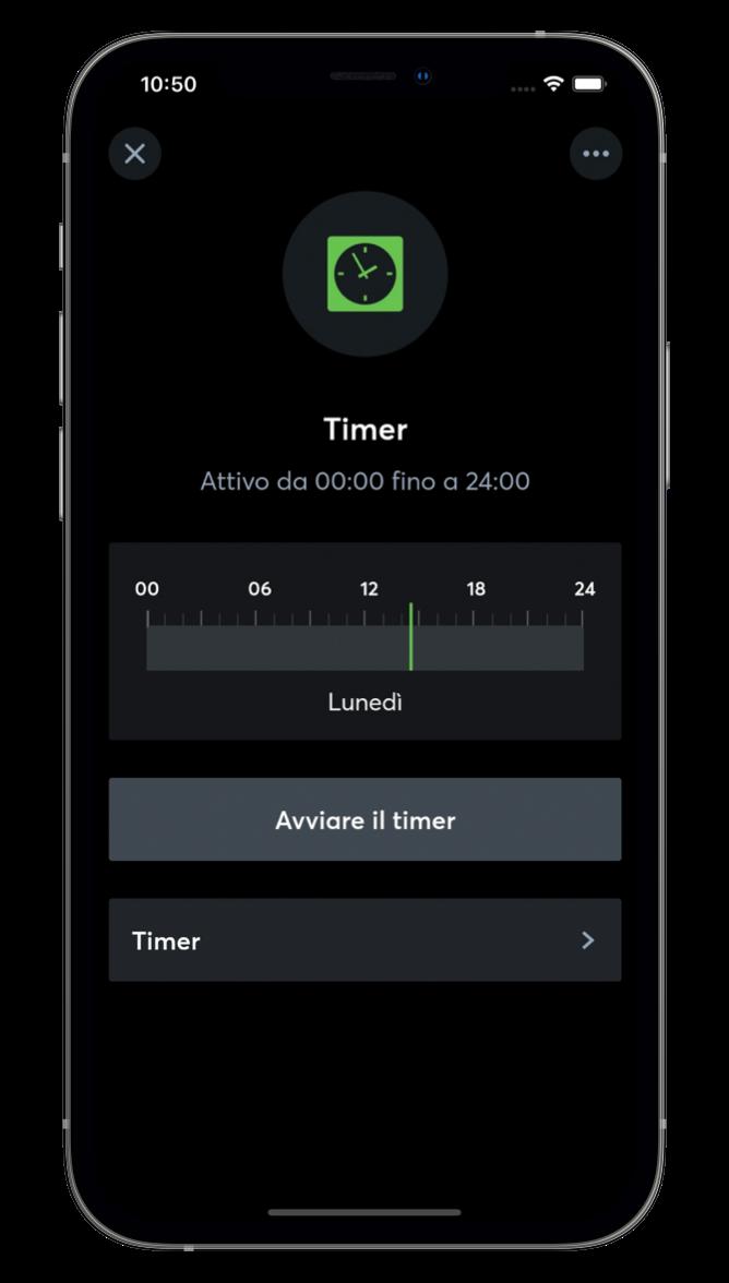 Timer con l'App Loxone