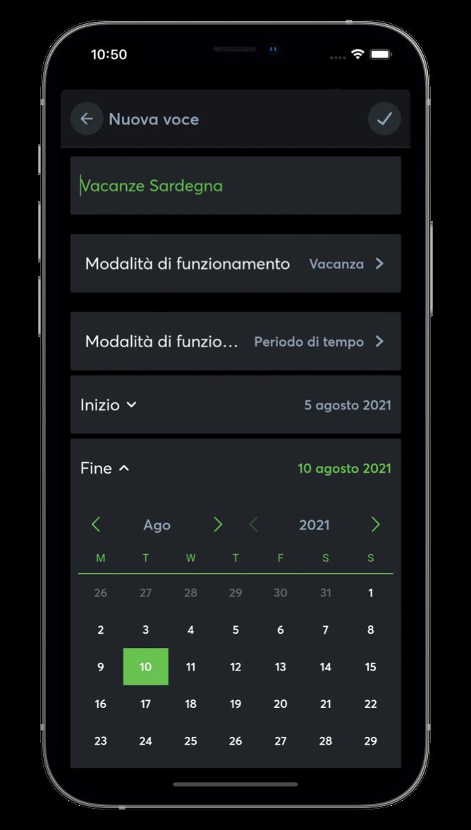 Pianificare modalità di funzionamento con l'App Loxone