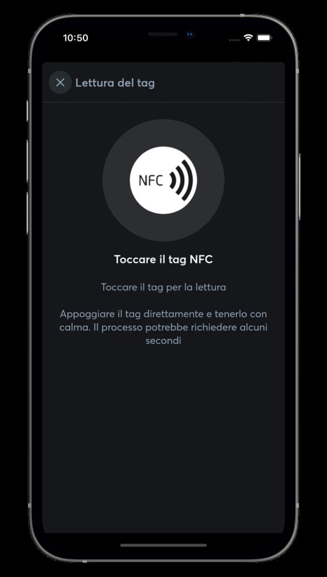 NFC con l'App Loxone