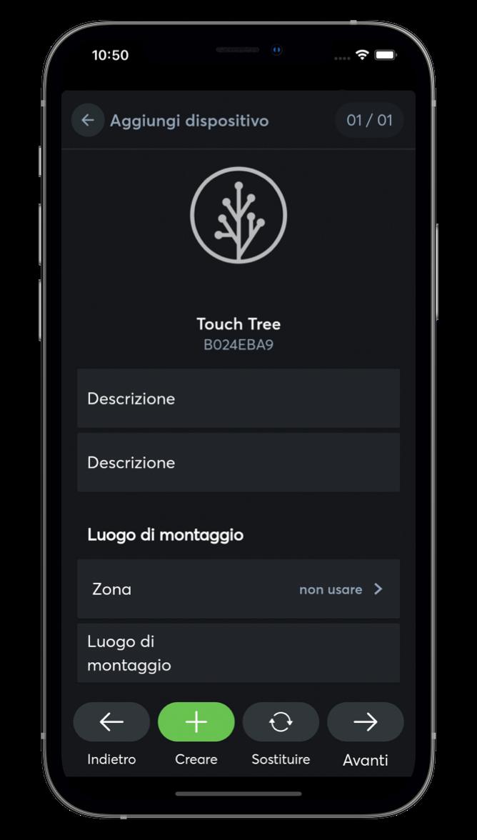 Imparare i dispositivi Tree e Air con l'App Loxone