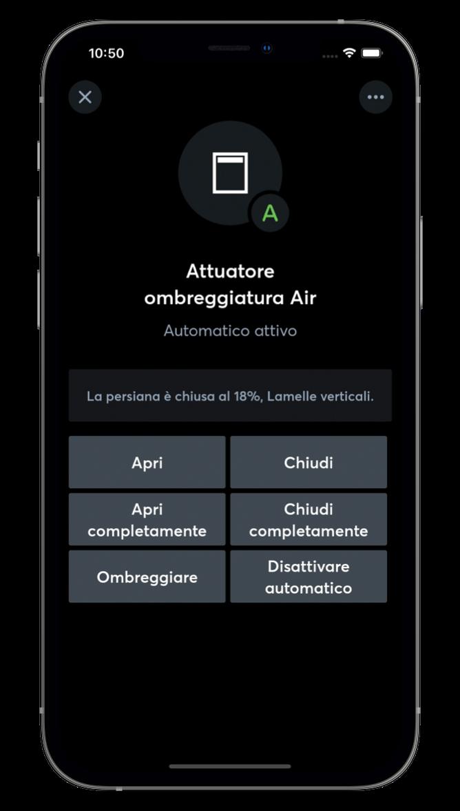 Ombreggiatura con l'App Loxone