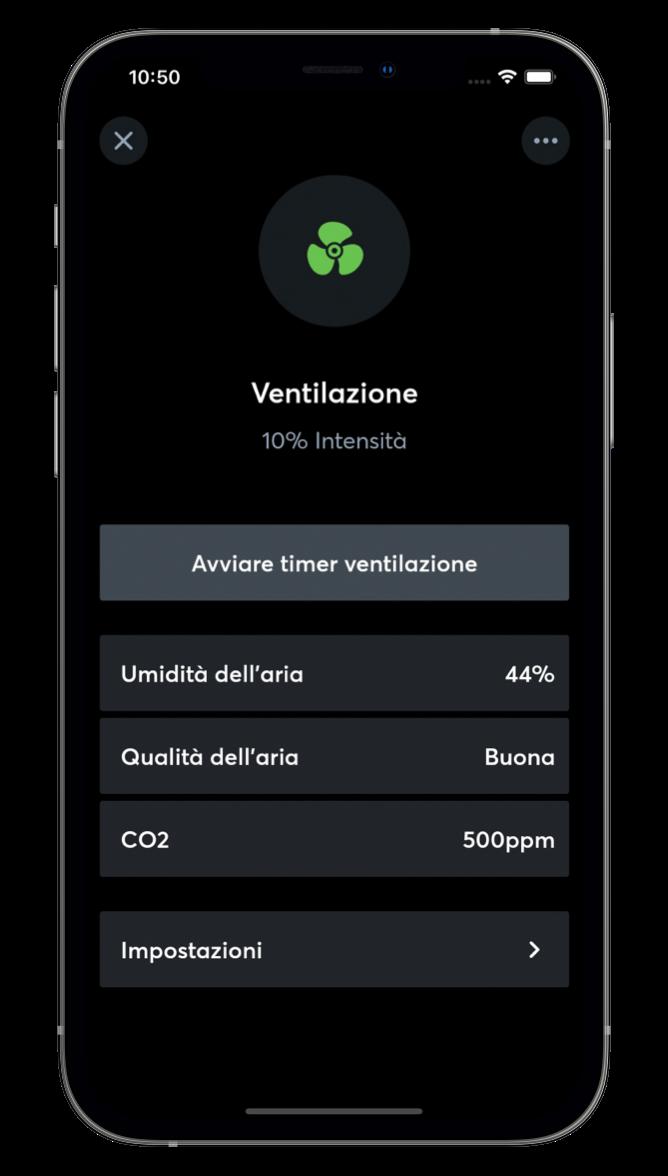 Ventilazione con l'App Loxone
