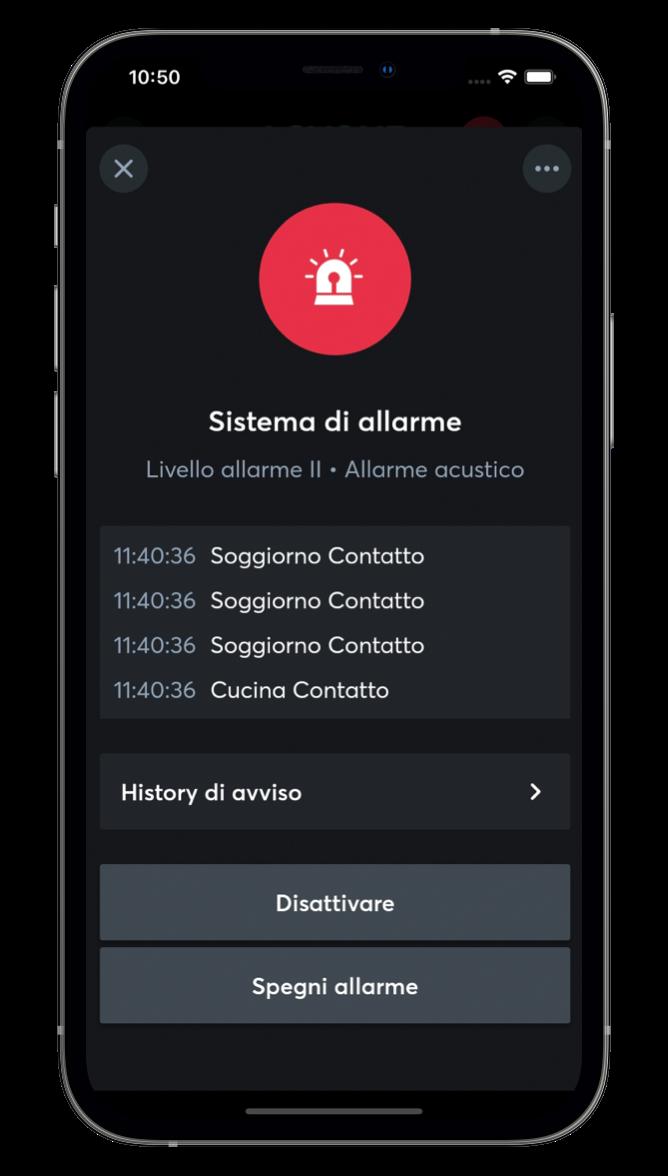 Sicurezza e allarme con l'App Loxone