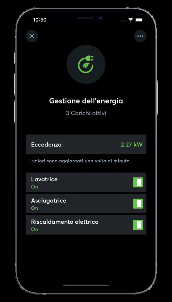 Gestione dell'energia con l'App Loxone