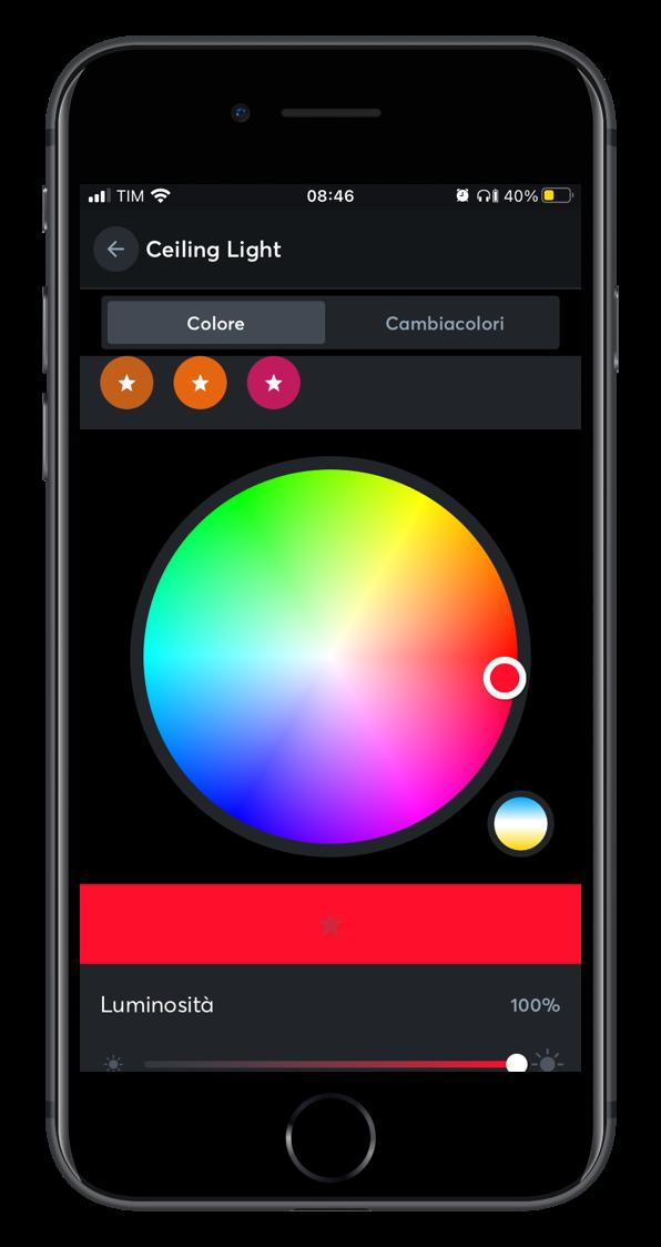 Smart home app controllo illuminazione