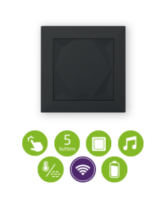 Loxone Touch Air Drukknop Antraciet Grijs