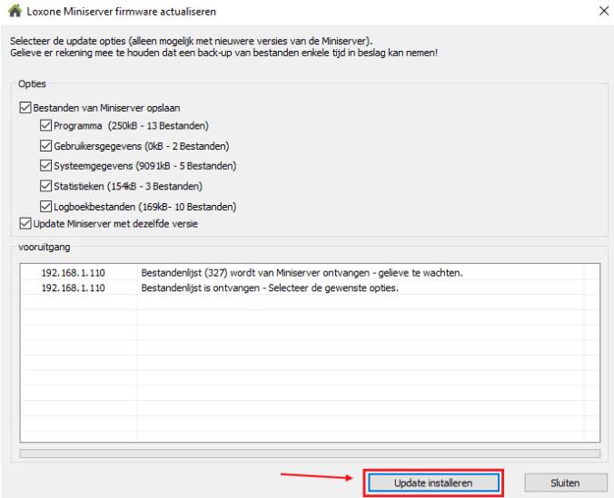 Firmware actualiseren - update