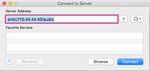 Music Server OSX connect