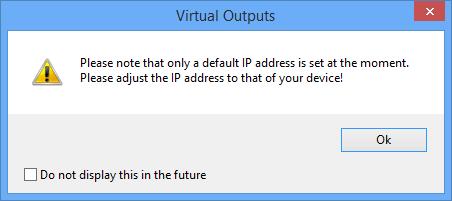 Network commando - virtual output