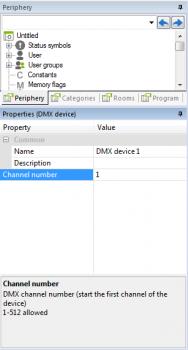 Aanpassing DMX channel