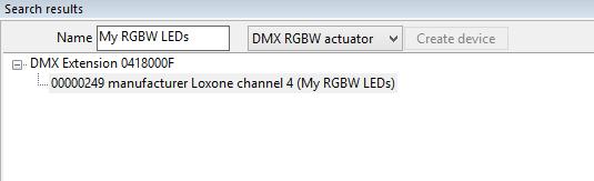 Set-up RGBW dimmer DMX stap 3