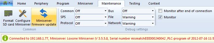 miniserver firmware update