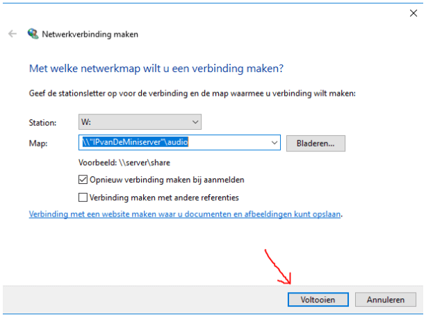 netwerkverbinding - windows muziek server