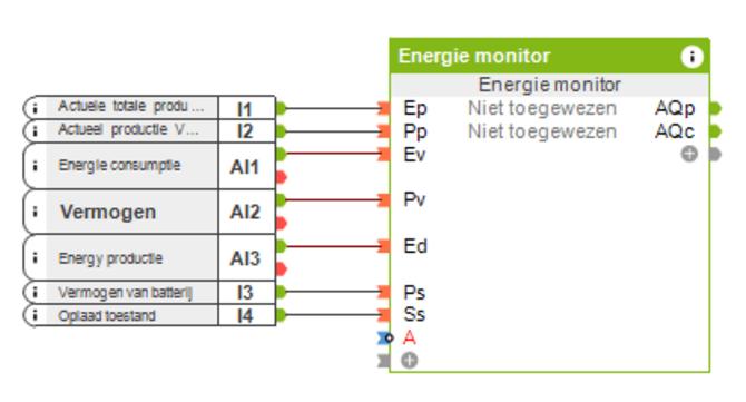 PV installatie na Teller met Batterij-opslag config