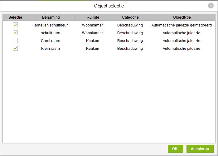 object selecteren