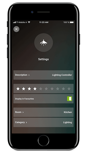 Smart Home App - Visu ändern