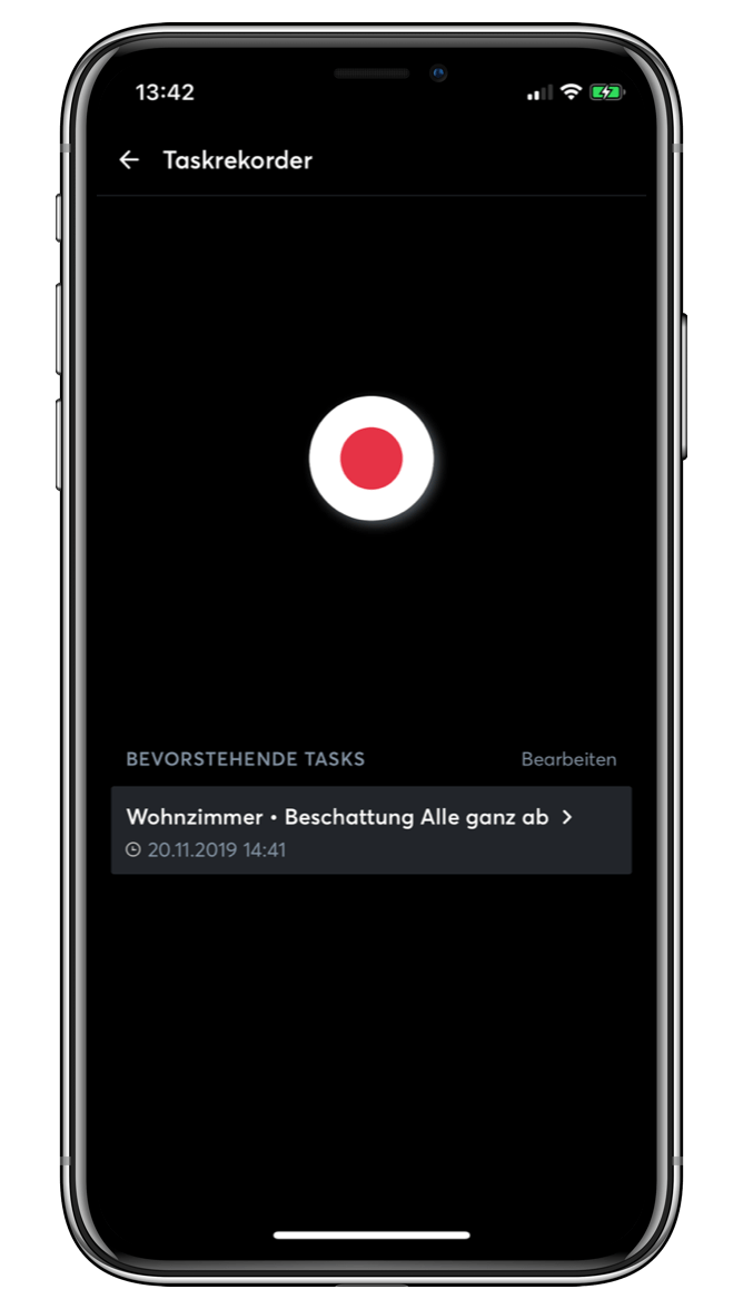 Ansicht Task Recorder