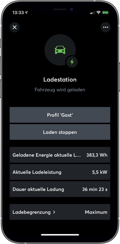 E-Mobilität in der Loxone App