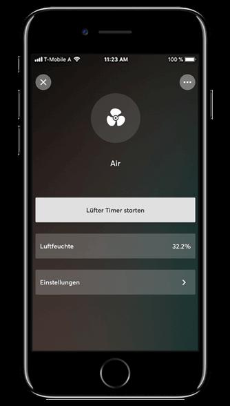 Aplikacja Loxone: sterowanie wentylacją